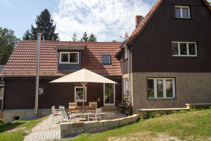 Ferienhaus Dahlia Hausterrasse